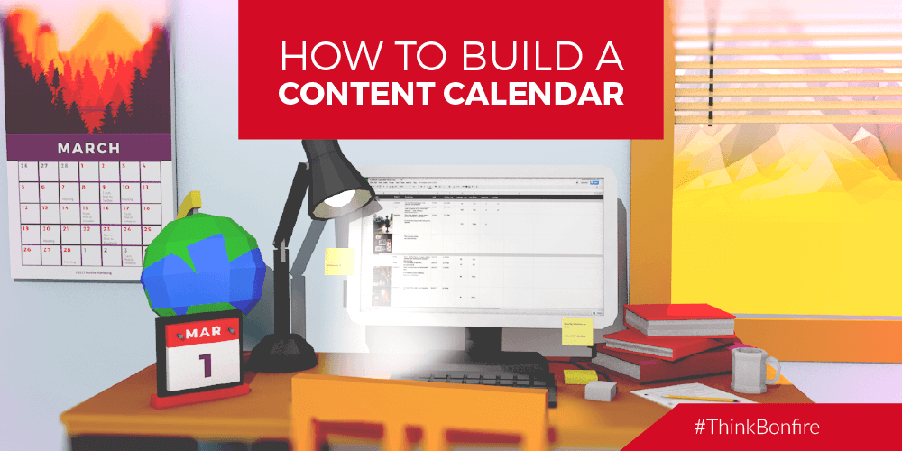 how to build a content calendar infographic