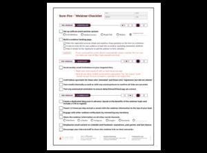 Get the Webinar Promotion Checklist