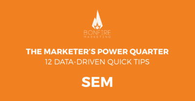 marketer's power quarter sem